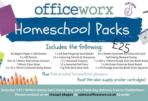 Officeworx Homeschool packs