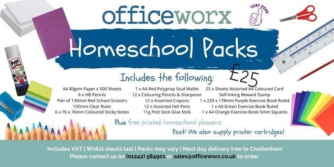 Officeworx Homeschool packs
